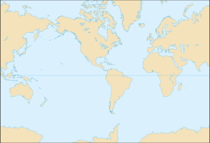 World map, Americas centered