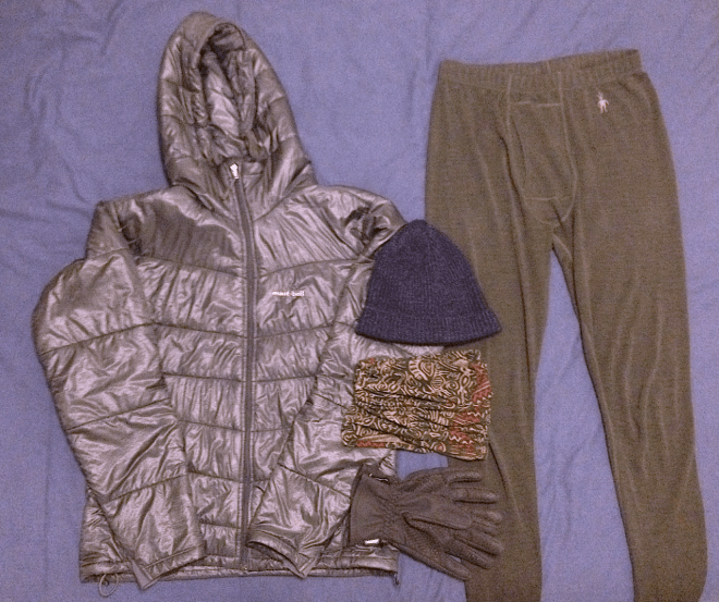 Ultralight winter travel gear and clothing