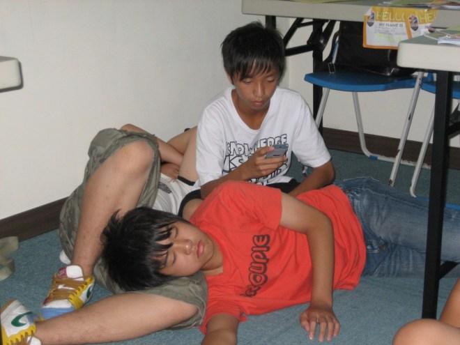 Taiwanese kids napping