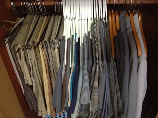 Color-coordinated minimalist wardrobe