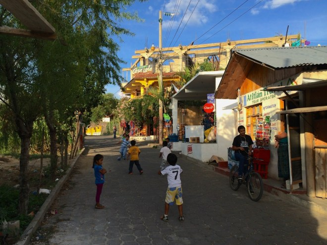 Kids playing football in San Pedro, Guatemala