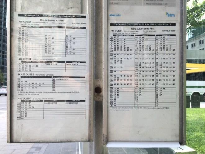 Montreal Bus Schedule