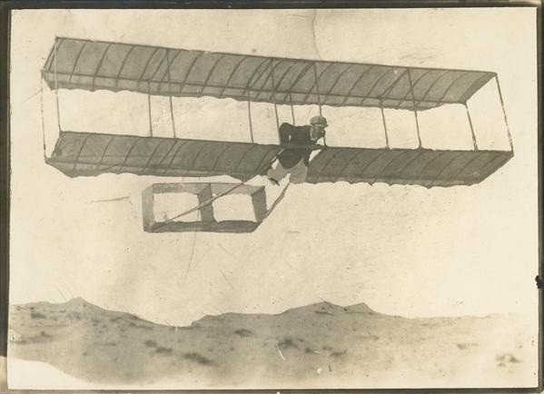 George A Taylor Narrabeen in a glider