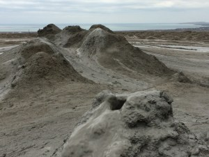 Mud volcano closeup
