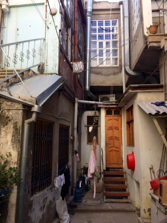 Baku old town apartment courtyard