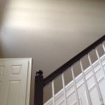 Two-story foyer upgrade: adding large crown molding