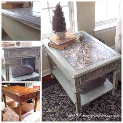 Upcycled Table with Decoupage and Chalk Paint