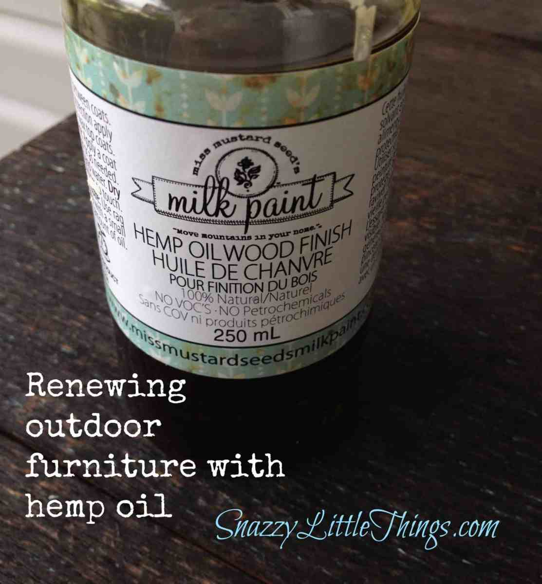 Winterizing Outdoor Furniture with Hemp Oil