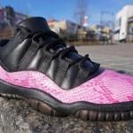 Air Jordan 11 Low Pink Snakeskin ド派手カスタム