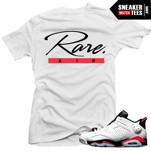 "Jordan 6 low White Infrared shirts to match ""Rare Script ..."