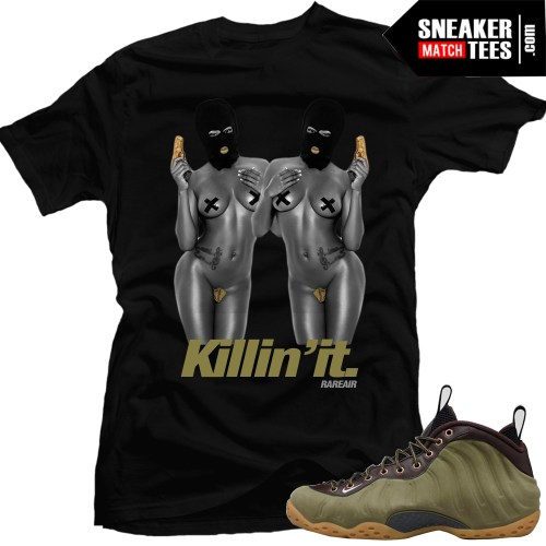 nike foams olive shirts to match sneakers