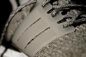 adidas Usa Lã E Cage Translúcido Em Um Par De Ultra Boost