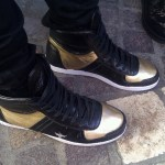 Sick Armani Gold and Black Kicks at The Grove in Hollywood