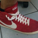 Bright red suede Nike 6.0 in West Hollywood