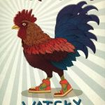 Wanna see | Watsky Rooster Sneaks Multicolor Nike High Tops