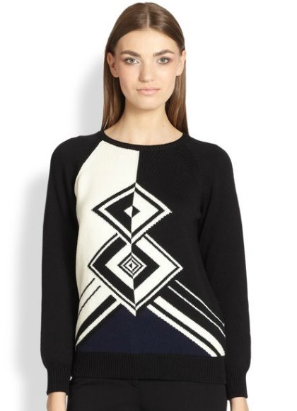 Emilio Pucci Graphic Knit Sweater