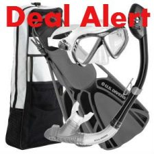 Snorkel Gear Deal Alert:  US Divers Admiral Snorkel Set with Premium Accessories