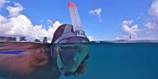 NEW Full Face Snorkel Mask Set with Mares Sea Vu and Ocean Pro Fins