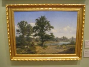 I likhet med at Dahl oppdaget det norske landskapet, oppdaget Dücker det estiske. Landskapsbilde fra Saaremaa.