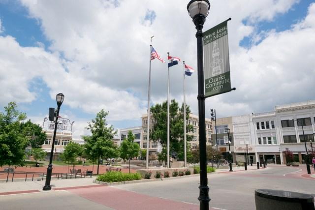 Springfield, Missouri town square