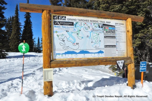 Nordic and snowshoe trail map