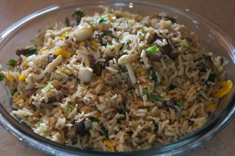 Large Of Mushroom Fried Rice