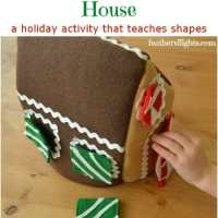 Sew a Felt Gingerbread House