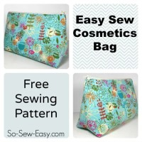 Easy Cosmetics Bag Pattern - bribe me!
