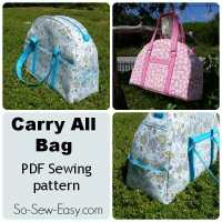 Carry-All Bag Pattern with pockets galore!