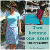 Two Become One - free t-shirt dress pattern