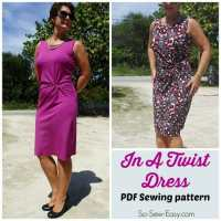 Twist Front Dress Pattern - POTM