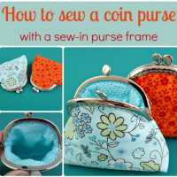 How to sew a coin purse with a sew-in purse frame