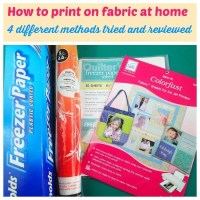 How to print on fabric at home - 4 different ways