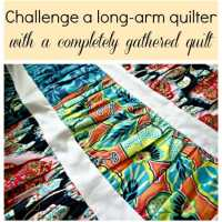 Making a gathered quilt top from Fat Quarters