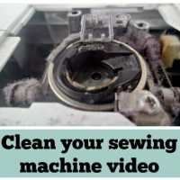 How to clean a sewing machine - video