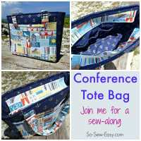 Conference Tote Bag Pattern Sew-Along