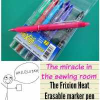 My favorite fabric marking tools - Frixion pens