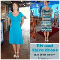 Fit and Flare Dress - free pattern