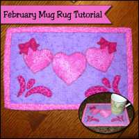 February Mug Rug Tutorial - Swishes and Hearts