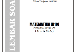 Soal Ujian Nasional (UN) SMA IPA 2005