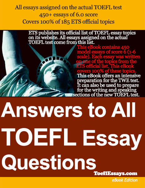 toefl essay ebook Toefl ibt integrated essay - a guide to writing high quality essays - kindle edition by micah robinson download it once and read it on your kindle device, pc, phones or tablets.