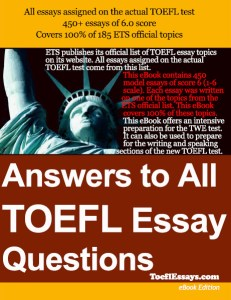 Answers to All TOEFL Essay Questions Book Cover