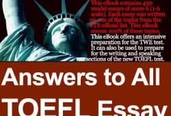 toefl essay questions list Free list of 33 toefl essay topics in the 'description' category.