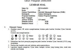 Soal Penjaskes SMK (Teori dan Praktik) dan Kunci Jawabannya