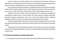 Soal Bahasa Sunda