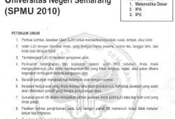 Soal Seleksi Penerimaan Mahasiswa UNNES 2010