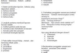 Soal Bahasa Indonesia Kelas 6 Bank Soal Ujian