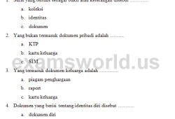 Soal IPS Kelas 2 SD