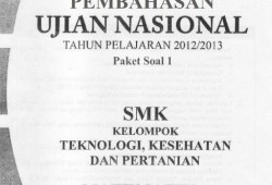 Soal dan Pembahasan UN Matematika SMK 2013
