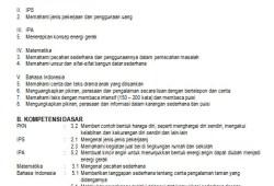 RPP Tematik SD/MI Kelas 3 Lengkap